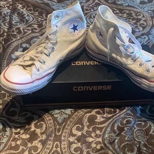Converse all star optical white shoes